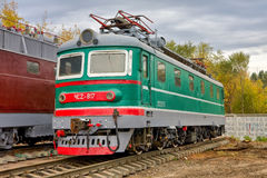 Trains at the Samara Railway Museum in sunny day Stock Photo