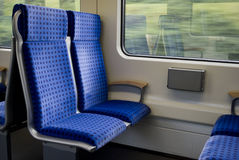 Trains seats Royalty Free Stock Photo