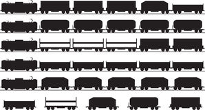 Trains silhouette Royalty Free Stock Image