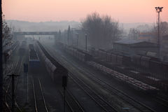 Trains Standing At The Station Royalty Free Stock Photo