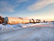 Trains at a standstill Stock Photos