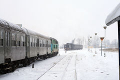 Trains at the station Stock Photography