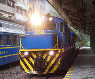 Trains in station Stock Photography