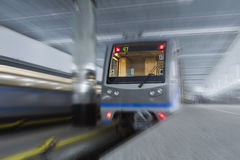 Trains in the subway. Two high-speed trains in the subway Royalty Free Stock Photography