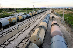 Trains tanker royalty free stock images