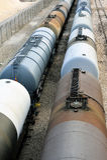 Trains tanker Stock Photo