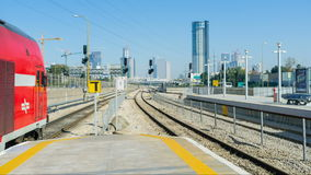 The trains in Tel Aviv stock footage
