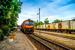 Trains in thailand Stock Image