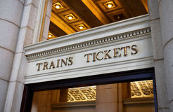Trains and Tickets Royalty Free Stock Photo
