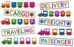 Trains for travel and cargo transportation Stock Photography