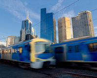 Trains travelling fast Royalty Free Stock Image