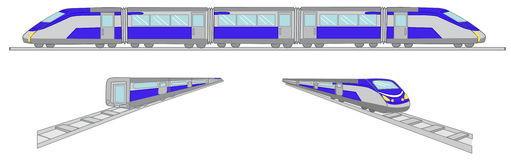 Trains vector illustration set Royalty Free Stock Photography
