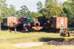 Trains Vintage Steam Graveyard Station Stock Images