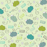 Trains, wagons and rails , doodle  seamless pattern Royalty Free Stock Photography