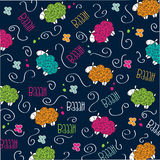Trains, wagons and rails , doodle  seamless pattern Stock Photo