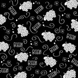 Trains, wagons and rails , doodle  seamless pattern Stock Photography