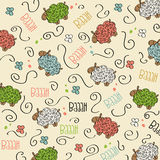 Trains, wagons and rails , doodle  seamless pattern Stock Photos