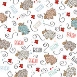 Trains, wagons and rails , doodle  seamless pattern Stock Images