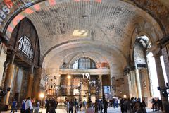 Trains? What Trains?!. Main Hall of Michigan Central Depot purchased by Ford Motor Company stock image