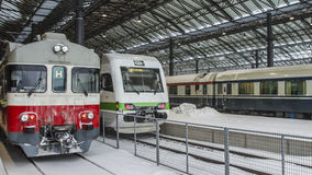Trains at winter Royalty Free Stock Image