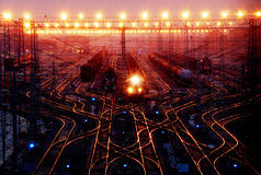 Trains in wuhan stock photography