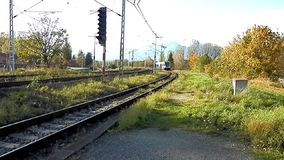 Trainset direction of the High Tatras. stock video footage