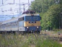 Trainspotting i Ungern royaltyfri fotografi