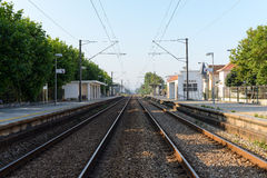 Trainstation in Aguda Fotografie Stock