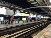 Trainstation Bangkok. Bangkok Skytrain & x28;BTS& x29 Royalty Free Stock Images