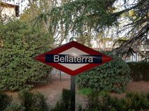 Trainstation Bellaterra in Barcelona, Spain stock images