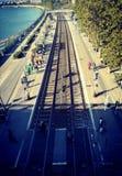 Trainstation bredvid dyn arkivfoton