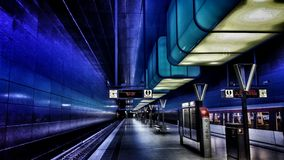 Trainstation HafenCity Hamburg Royalty Free Stock Photos