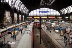 Trainstation Hambourg Photographie stock