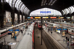 Trainstation Hamburg Stock Photography