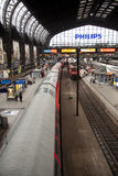 Trainstation Hamburg Stock Photo