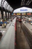 Trainstation Hamburg arkivfoto