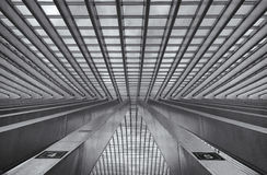 Trainstation Liege Belgia zdjęcie royalty free