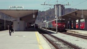 Trainstation in Ljubljana stock video