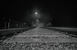 Trainstation in the Night. Scarry Trainstation in the Night Stock Images