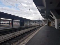 Trainstation. The trainstation in switzerland ond a normal saturday Royalty Free Stock Images