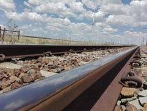 traintracks stock afbeelding