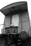 Trainwagon. On a lonely railroad royalty free stock photo