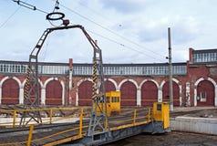 Trainyard velho imagem de stock royalty free
