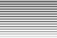 Trait horizontal Raye le modèle tramé avec l'effet de gradient Rayures noires et blanches illustration libre de droits