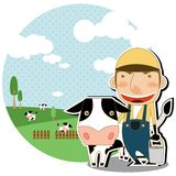 Trait la vache illustration de vecteur