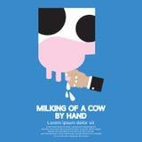 Traite d'une vache Photos libres de droits