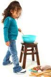 Traitement au four d'enfant image libre de droits