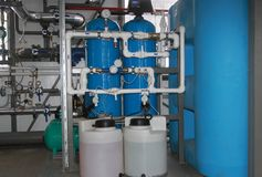 Traitement chimique de l'eau image libre de droits