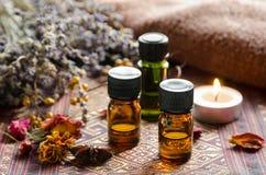 Traitement d'Aromatherapy avec des herbes Images libres de droits