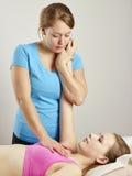 Traitement d'ostéopathie Photographie stock